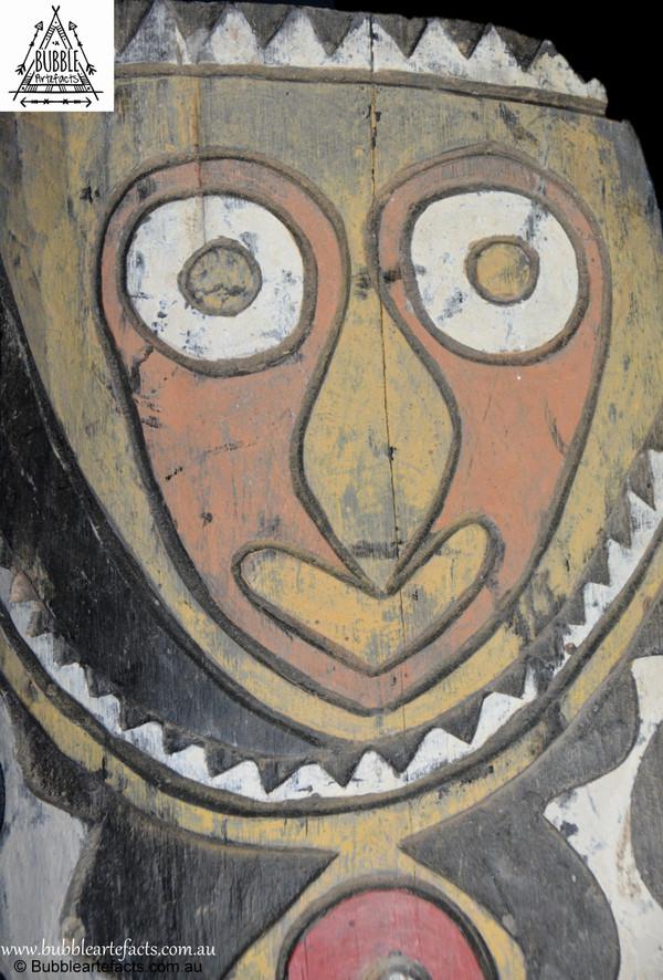 Rare Vintage Tribal War Shield, Kupkein Village, East Sepik.