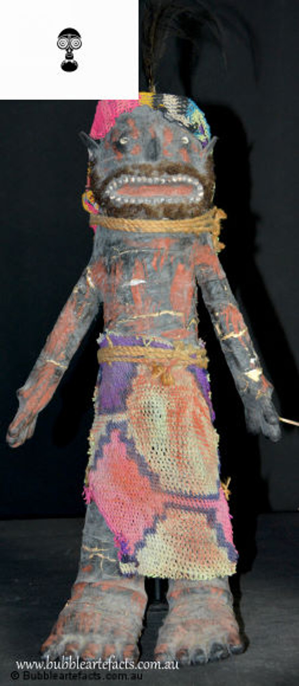 Exquisite Mendi Payback Doll Figures (Male and Female), Mendi, Southern Highlands