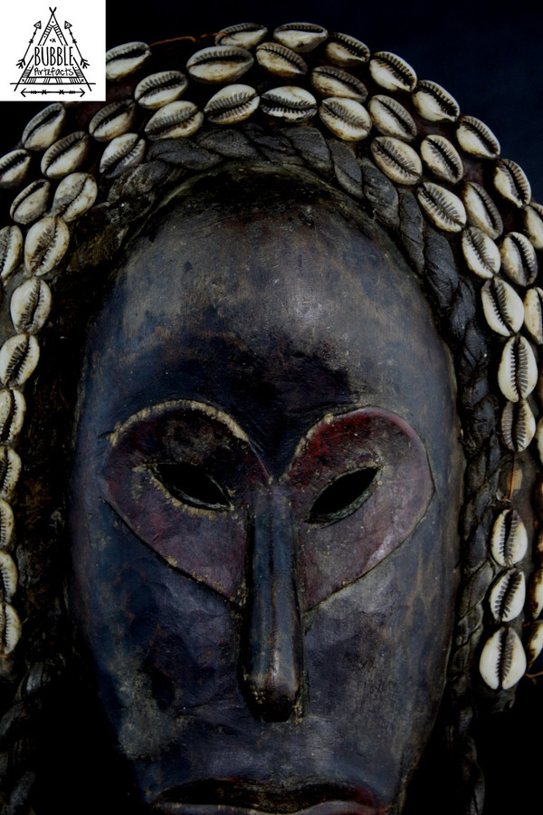 Rare Vintage Tribal Dan Mask, Ivory Coast