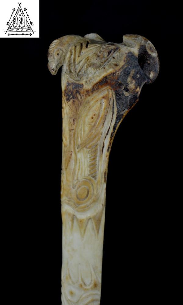 Stunning Fine Vintage Abelam Cassowary Bone Dagger