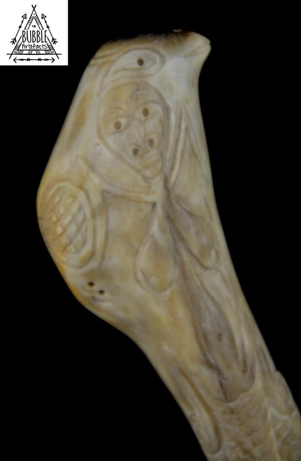 Superb Fine Vintage Abelam Cassowary Bone Dagger