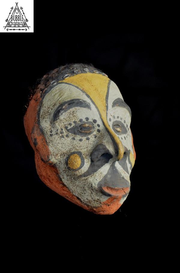 Rare Stunning Fine Iatmul Substitute Ancestor Skull, Middle Sepik