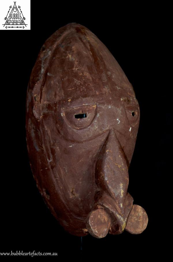 Very Rare Fine Vokeo Island Dance Mask, East Sepik.