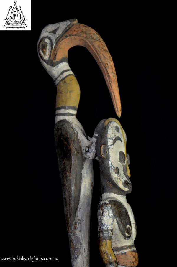Stunning Large Vintage Ceremonial Flute Stopper, Mindibit