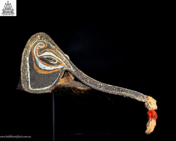 Stunning Long Nose 'Nario' Tumbuan Mask, Kabriman Village, Blackwater River