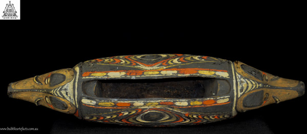 Stunning Decorated Carved Garamut Drum, Blackwater Village, Sepik