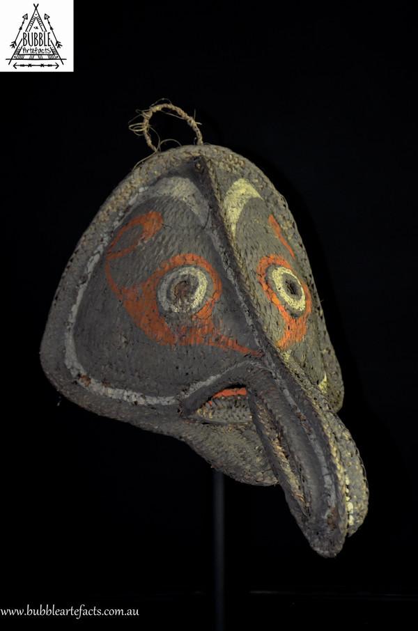 Stunning Long Nose 'Nariofa' Tumbuan Mask, Kabriman Village, Blackwater River