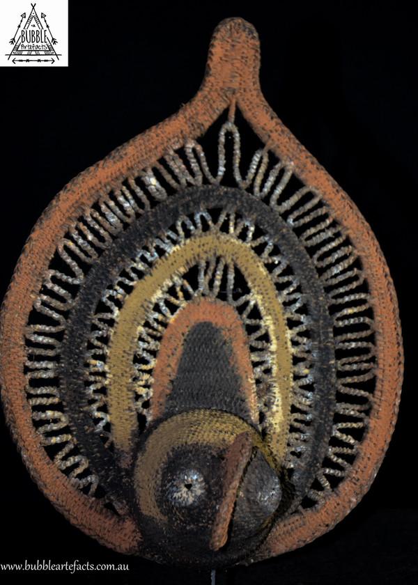 Stunning Fine Woven Ceremonial Headdress Yam Harvest Mask, Abelam, Sepik Region