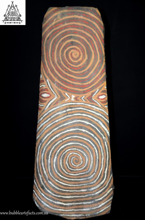 Powerful Vintage Sago Bark House Panel, Washkuk