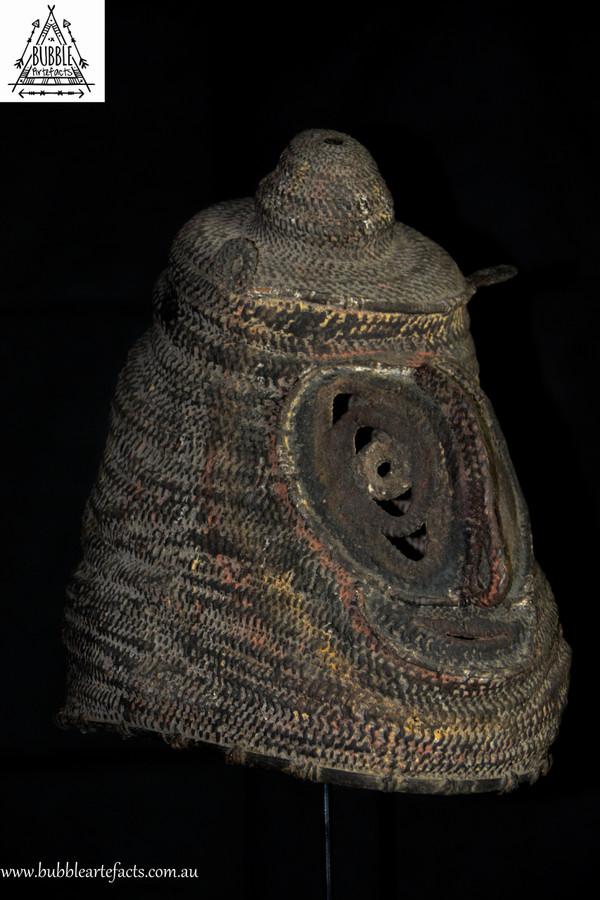 Powerful Rare Fine Baba Helmet Mask, Abelam, Sepik Region.