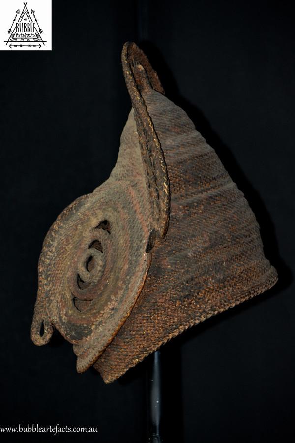 Powerful Fine Baba Helmet Mask, Abelam, Sepik Region.