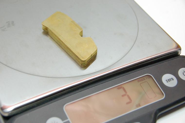 Brass Weight Kit, CZ Scale 4.0 Grips