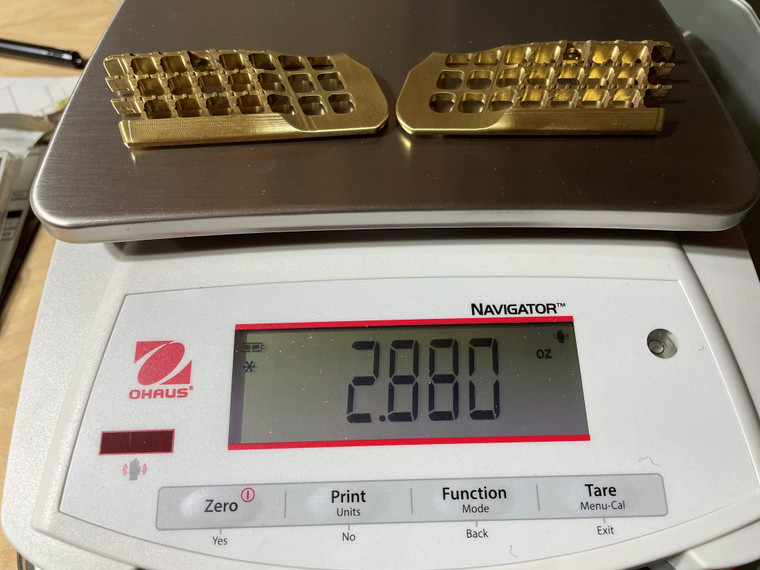 SHORT TANFO SCALES, 2.0, BRASS