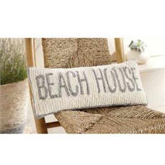 beach hooked pillow