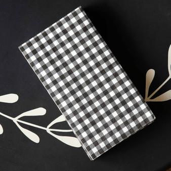 black gingham napkins