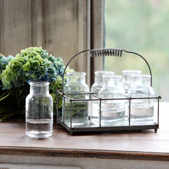 Milk Bottle Flower Holders