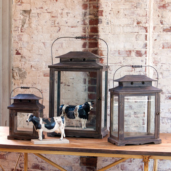 Wooden Display Lanterns
