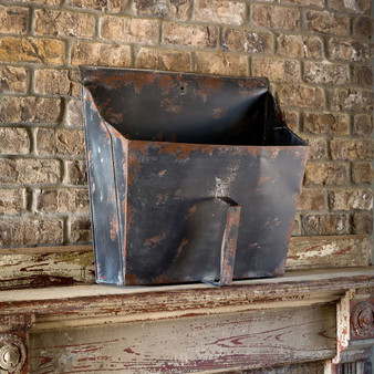 antique black industrial scoop