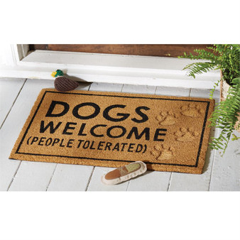 Dogs Welcome Paw Print Mat