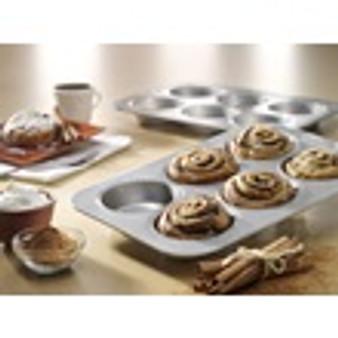 Mini Round Cake Panel Pan (6 well) 15.75x11.12x1.5