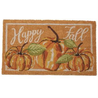 watercolor pumpkin door mat