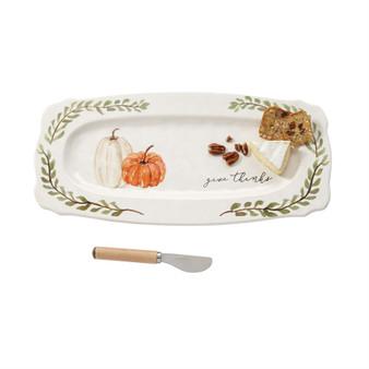 pumpkin hostess platter set