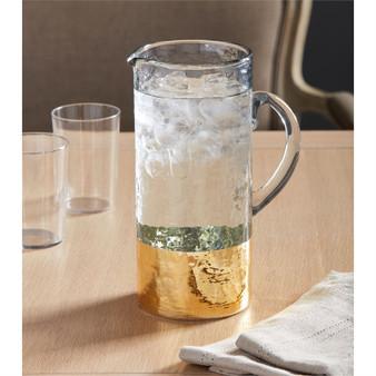 gold glass pitcher