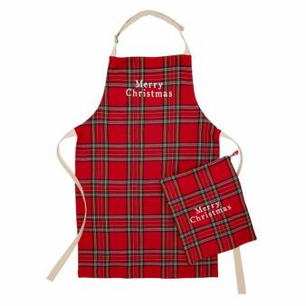 tartan apron