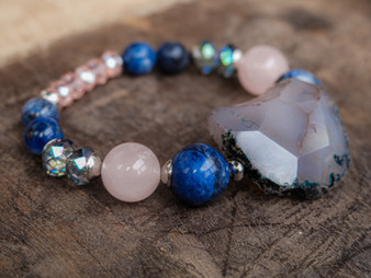 The Perfect Boyfriend - Blue Agate Bracelet