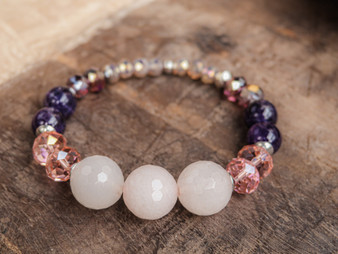 I Love U -Rose Quartz Bracelet