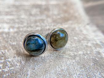 Labradorite Earrings - 10mm