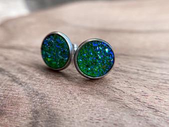 Forest GreenDruzy Earrings