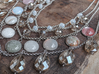 Love You To The Moon And Back  - Statement Necklace