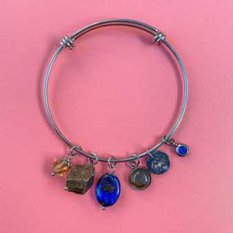 Aquarius - Lapis Lazuli Bangle