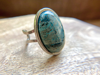 Chrysocolla Oval Ring
