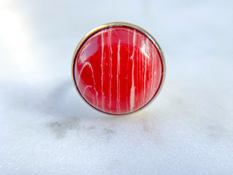 Red Stone Ring 18mm