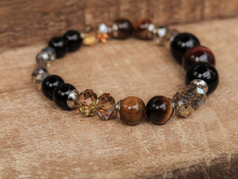 Fearless - Onyx and Tiger Eye Bracelet
