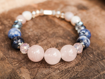 Romantic and Confident - Rose Quartz Bracelet