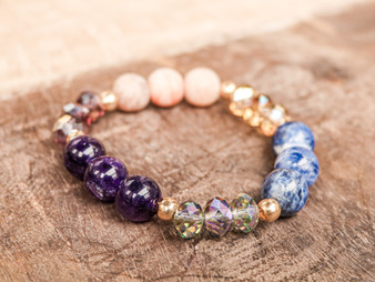I Believe in You - Sodalite Gold Filled Bracelet