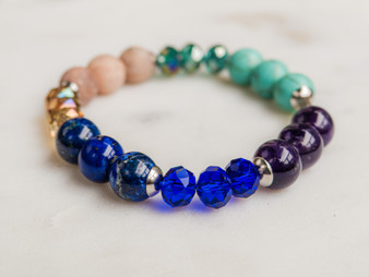 You Rock - Amethyst & Lapis Bracelet