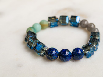 Take Me To The Beach - Lapis & Aquamarine Bracelet