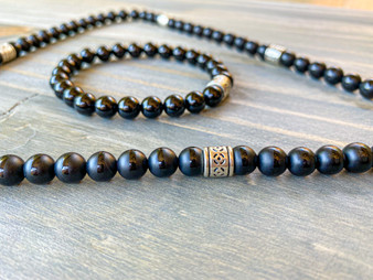 Royale Black Onyx Necklace & Bracelet Set