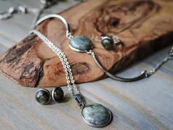 Classy Labradorite Jewelry Set