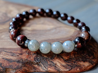 Lavish Life - Labradorite, Tiger Eye & Red Garnet Bracelet
