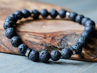 Chill Vibes - Lava Stone Bracelet