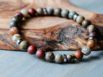 The Gentleman - Picasso Jasper Bracelet