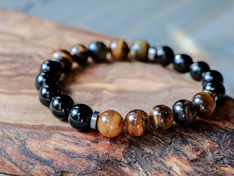Modern - Tiger Eye & Black Onyx Bracelet