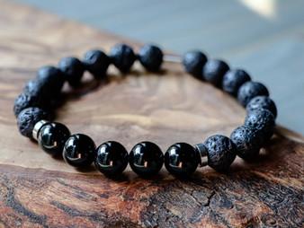 Handsome - Black Onyx & Lava Stone Bracelet