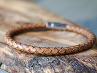 Essential Vintage Natural Leather Bracelet