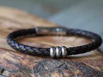 Trio Brown Leather Bracelet